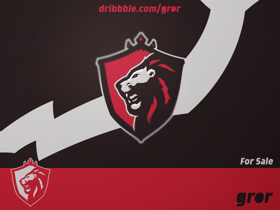Lion Shield Logo royal crown shield king lions lion head for sale mascot sport esport logo design logoground logo gror