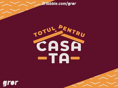 Casa Ta Logo casa construction home house wordmark type logo design logo gror