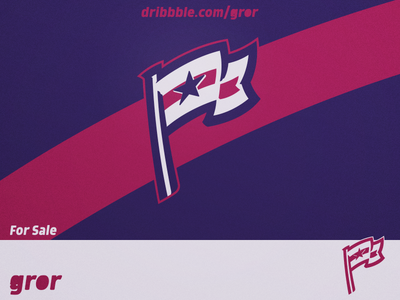 Flag Star Logo wind stripe america usa flag star logo design sport esport for sale logoground logo gror