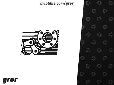 Chain and Bearing Logo gear industry chain bearing design logo design logo gror