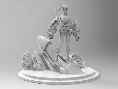 Dune Racers 3d Character Model