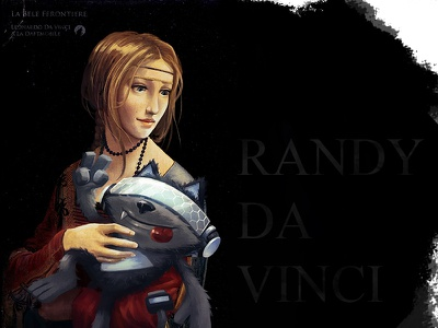 Lady With A Randy ermine with lady davinci digital painting randy art illustration drawing 2d art design character daftmobile daftcode