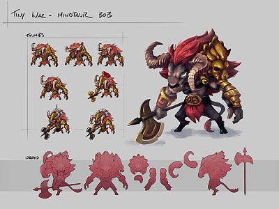 Character Concept: Minotaur Bob minotaur concept art digital painting drawing 2d art illustration art design character daftcode daftmobile