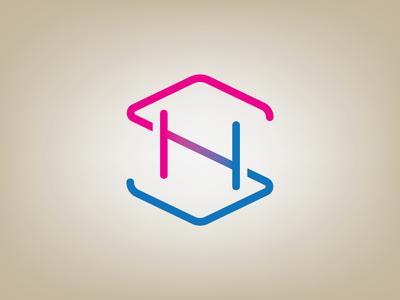 SH Monogram illustrator logo design vector design branding icon logo monogram