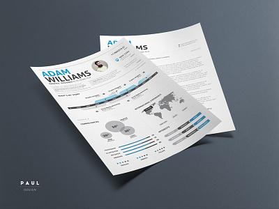 Infographic Resume Vol. 2 stylish resume lebenslauf infographic resume curriculum vitae resume cv