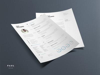 Clean Resume Vol. 4 resume inspiration stylish resume lebenslauf clean resume curriculum vitae resume cv