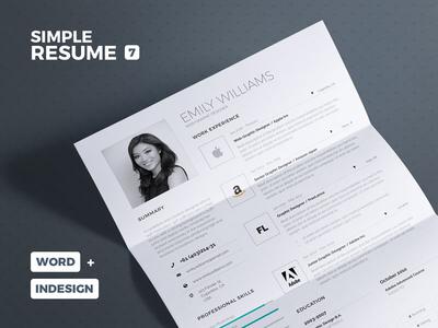 Simple Resume/Cv Volume 7 lebenslauf curriculum vitae template cv resume