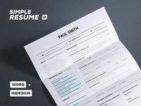 Simple Resume/Cv Volume 8