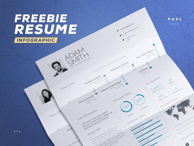 Free Infographic Resume inspiration curriculum vitae template freebie free lebenslauf cv resume infographic