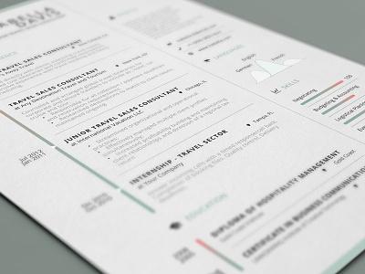Clean Resume/Cv Template us letter a4 modern professional curriculum vitae visual personal branding inspiration lebenslauf template cv resume