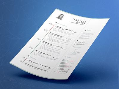 Clean Resume/Cv Template personal branding job word indesign template inspiration lebenslauf resume cv