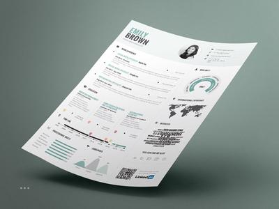 Infographic Resume/Cv Volume 1 us letter a4 modern professional curriculum vitae visual personal branding inspiration lebenslauf template cv infographic resume