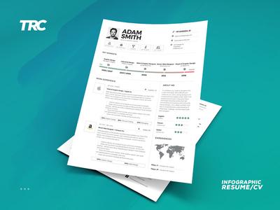 Infographic Resume/Cv Volume 9 personal branding job word indesign template inspiration lebenslauf resume cv