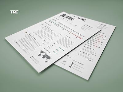 Infographic Resume/Cv Template Volume 9 photoshop indesign word template inspiration career job lebenslauf cv resume