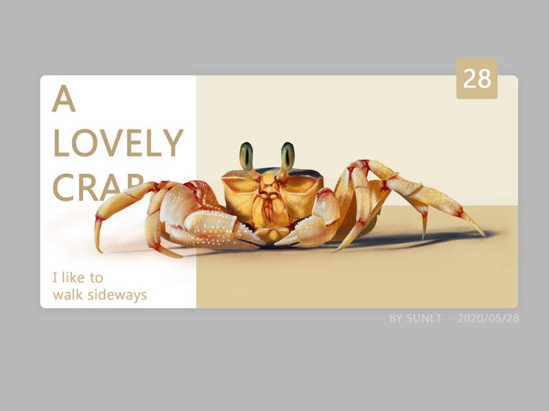 Hand painted crab crab webdesign format logo animal illustration ui