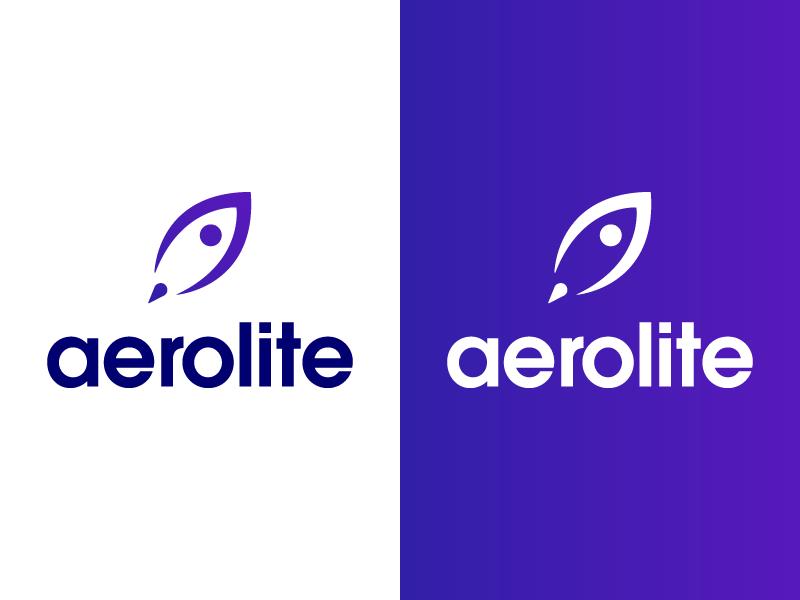 Daily Logo Challange 01/50 - Rocketship logo purple blue aerolite cosmos day1 dailylogochallange rocketship rocket logo