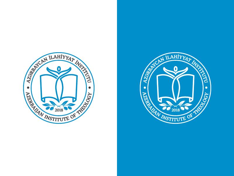 Azerbaijan Institute of Theology minimalism minimal branding konulzade kiki logotype grey blue logo vector flat branding line 2018 olive book human logo azerbaijan theology institute logo