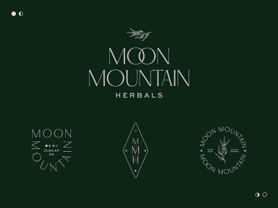 Moon Mountain Herbals Logo Option a herbal products moon apothecary herbal design chicago branding logo