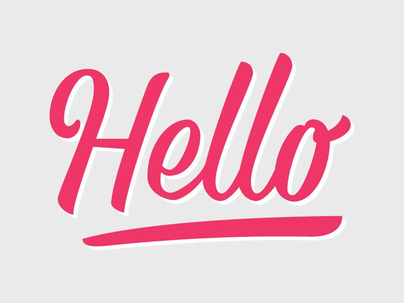 Hello lettering hello