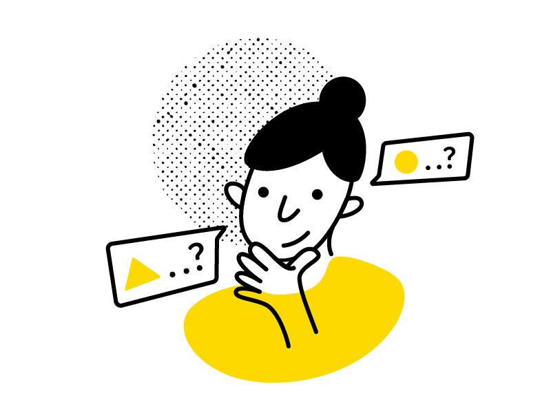 Blob lady chicago website illustration tech woman illustration woman icons illustration