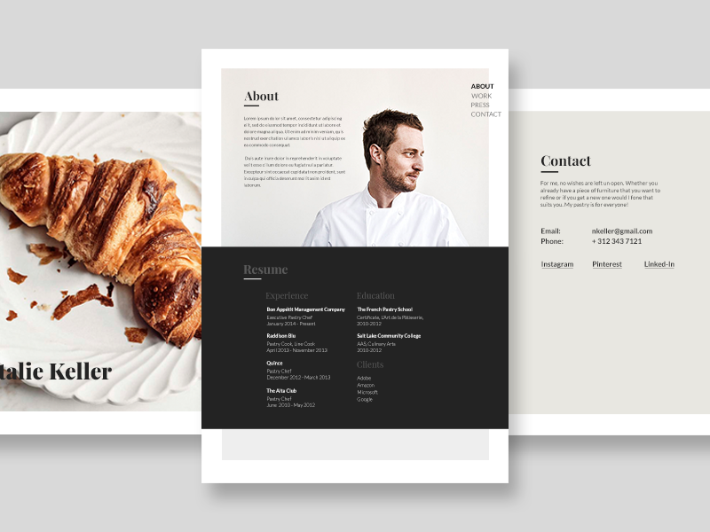 chef portfolio exploration by michael mazur