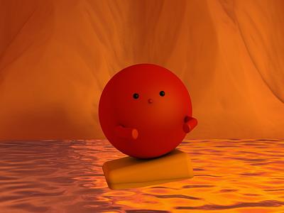 3D — Lockdown ©001 character design c4d 3d art illustration project design concept sunset cute cartoon character 3d