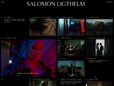 Salomon Ligthelm — 001 ui motion animation smooth animation interaction grids director home portfolio ease javascript curve grid smooth interactive