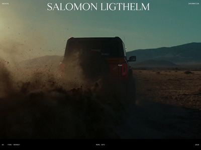Salomon Ligthelm — 003 concept curve ease portfolio director project page interactive interaction smooth animation motion ui