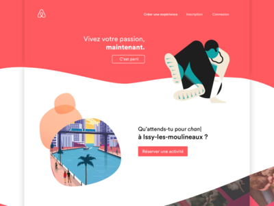 Daily UI challenge #003 — Landing Page concept redesign experiences airbnb challenge ui daily 003 page landing