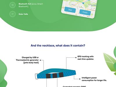 Landing page - App for pet tracking illustration pet pet tracker pet tracking ui concept design redesign ux project logo contest landing page app app concept app presentation