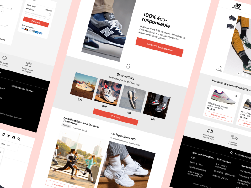New Balance - Redesign (part. 2) branding project design concept ui art director vector mark ios branding and identity app branding app logo redesign new balance