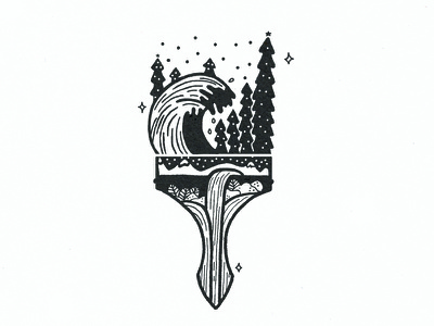 PAINTBRUSH illustrator drawing conceptual paintbrush illustration