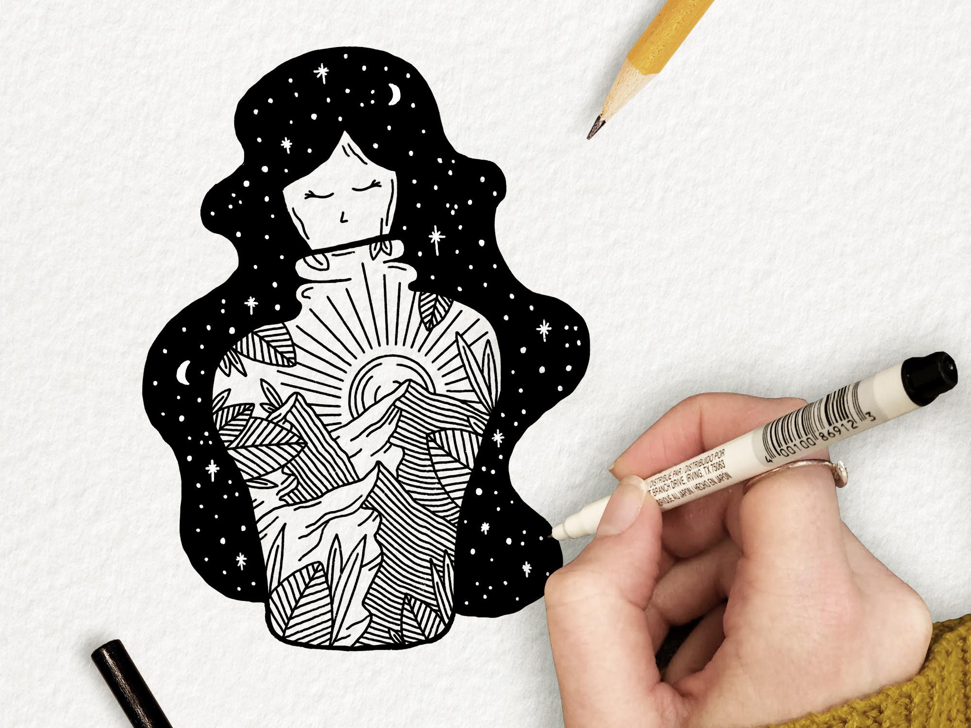 Space Girl By Megan Steele On Dribbble