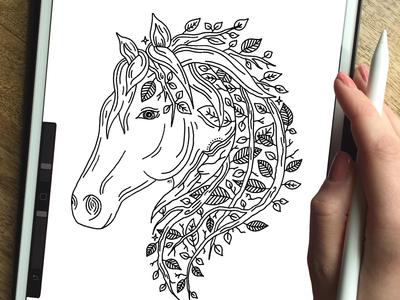 HORSE + NATURE