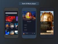 Dark UI Music Player
