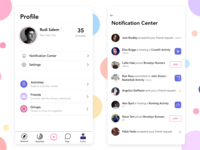 Profile & Notification Center (Mobile Design)