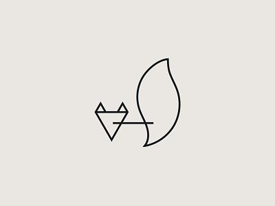 KataThuMela / logo line art logo line art lineart line animal logo logo concept hipster logo concept industrial logo industrial style industrial logo cat fox