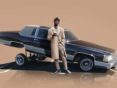 White John with 1983 Cadillac Brougham
