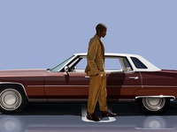 Maverick the liar with 1975 Cadillac Deville