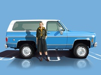 Monica with 1977 Chevrolet Blazer Cheyenne