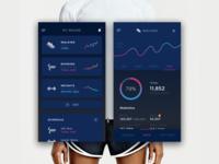 Fitness + Wearable App UI