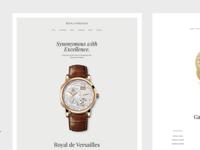 Luxury Watch Dealer - Website Experience