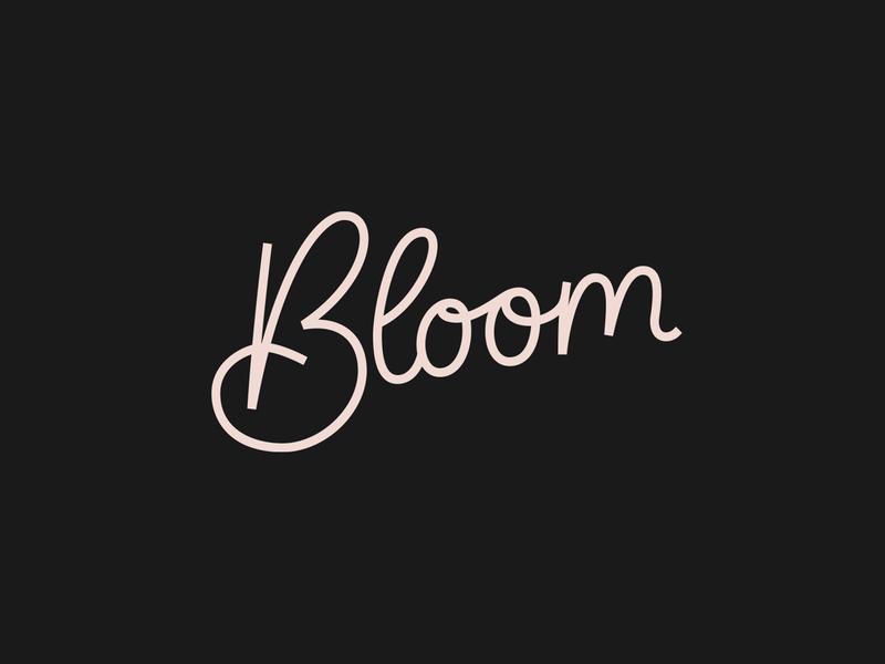Bloom Hand Lettered Logo