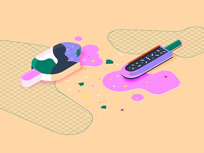 Design Islands - Isometric illustration grid ice cream icecream ice isometric illustration isometric design isometric isometry illustrations illustraion illustrator colours colour colorful colors illustration design dots color