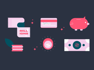 Design islands - Mobile banking branding illustration finance app financial finance fintech banking design island design illustration art illustrations colours colorful colour colors color illustrator