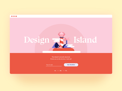 Coming Soon Page red pink soon coming soon coming comingsoon island typography branding illustration colours colour colors ui colorful design color