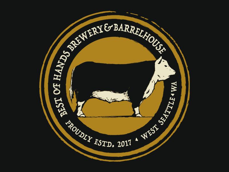 Best of Hands cow branding logo