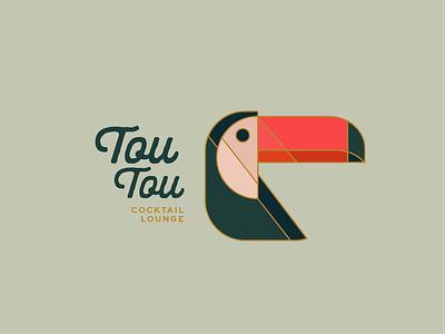 Tou Tou Cocktail Lounge design branding logo illustration