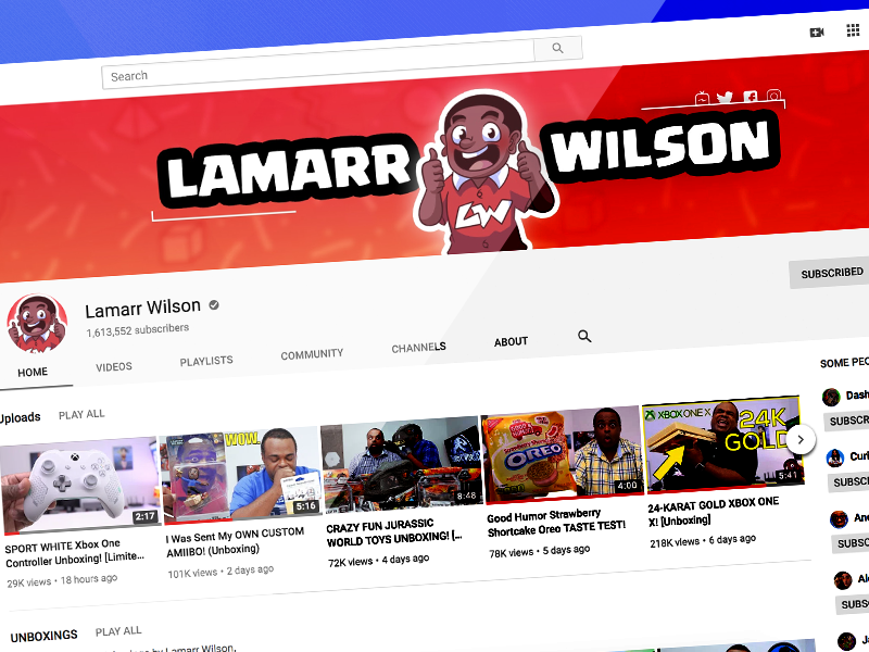 Lamarr Wilson - Channel Redesign by Andrew Falchook on Dribbble