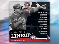 Los Angeles Angels - 'Tonight's Lineup'